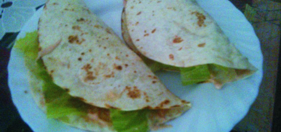 Tortilla z kurczakiem i sosem majonezowym. (autor: peppermint91 ...