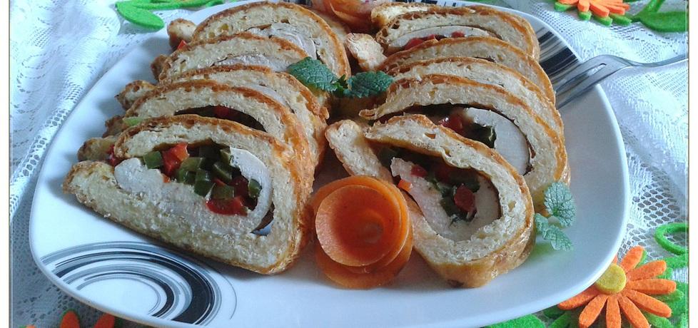 Rolada serowa z kurczakiem i papryką (autor: monikat83 ...