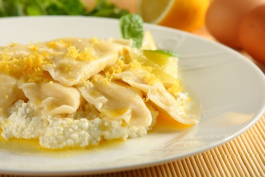 Pierogi z białym serem