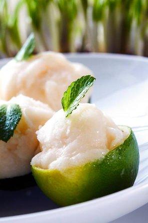 Sorbet limonkowy  prosty przepis i składniki