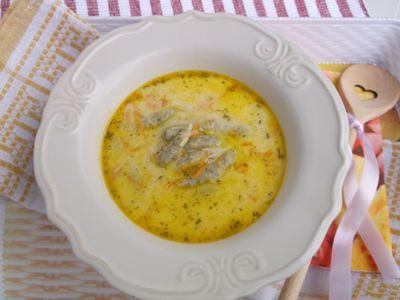 Koperkowa zupa z kluseczkami