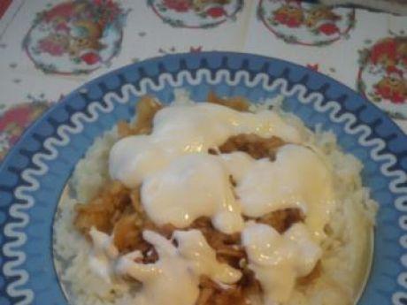 Przepis  ryż z jabłkami i bitą śmietaną wg julci przepis