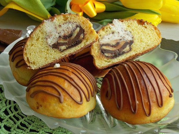 Przepis  serowe bułeczki z czekoladą przepis