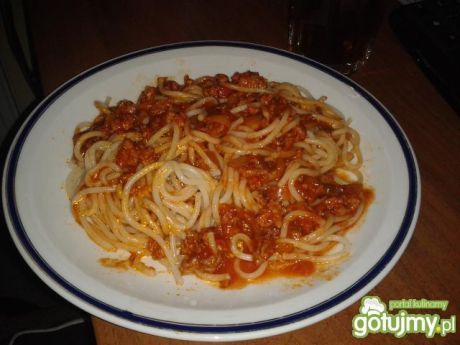 Przepis  spaghetti z pomidorowo