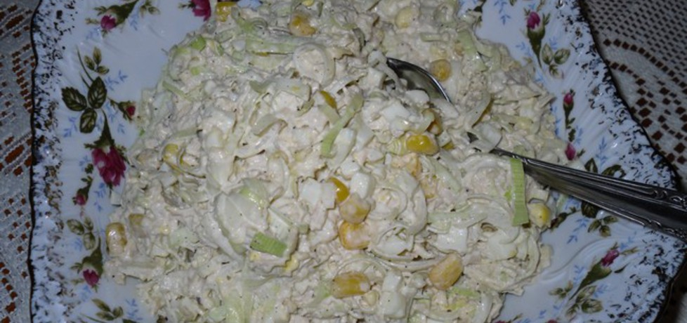 Sałatka porowo  kurczakowa (autor: mysiunia)