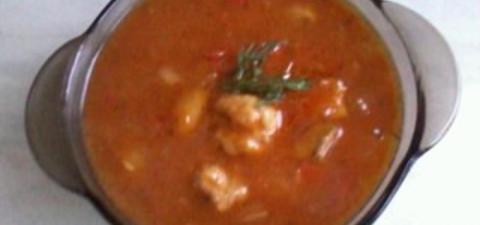 Zupa meksykańska z kuleczkami z mięsa mielonego (autor ...