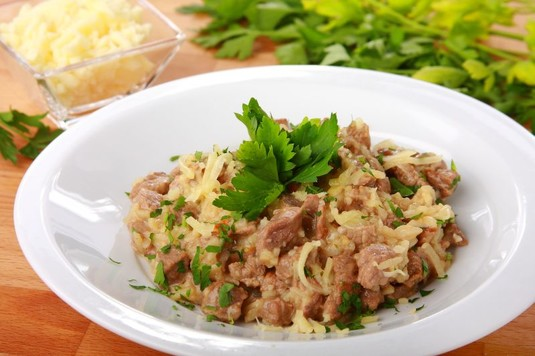 Risotto grzybowe z wołowiną