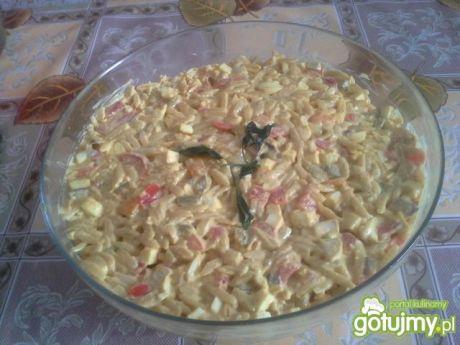 Przepis  sałatka makaronowa z curry przepis