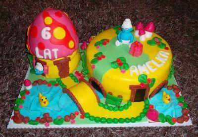 Tort z masą owocową