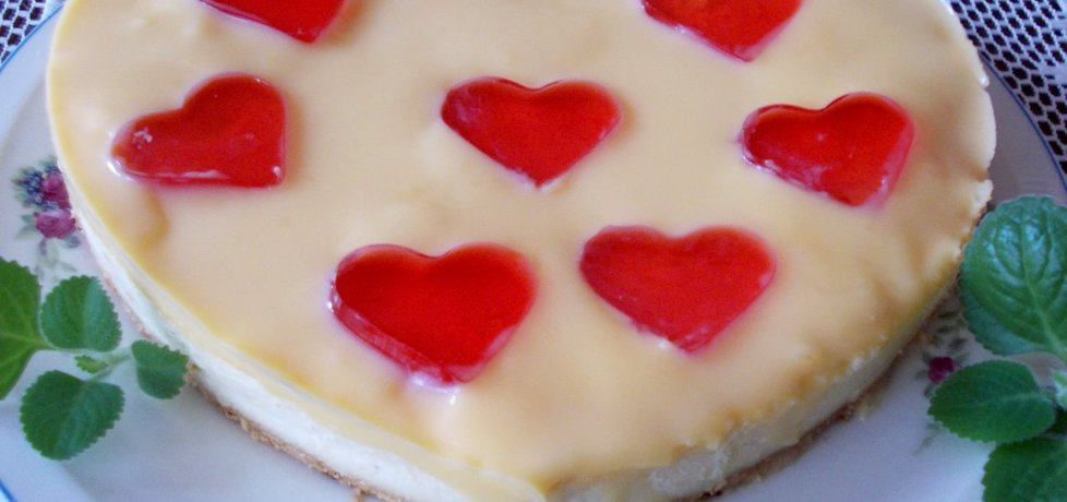 Walentynkowy sernik z polewą z adwokata. (autor: bernadeta1 ...