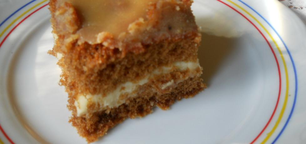 Ciasto czekoladowe z kremem i polewą krówkową (autor: maryska ...