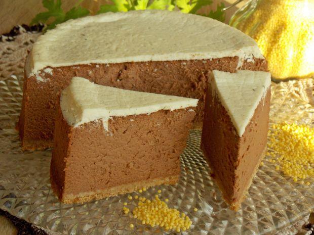 Przepis  sernik czekoladowy z kaszą jaglaną przepis