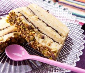 Mrożony tort kawowo-pistacjowy  prosty przepis i składniki
