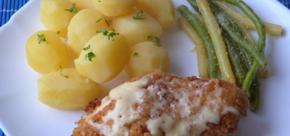 Filet z kurczaka w panierce z żółtym serem (autor: renatazet ...