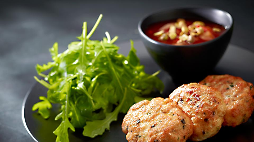 Przepis na placuszki z kurczaka i szynki