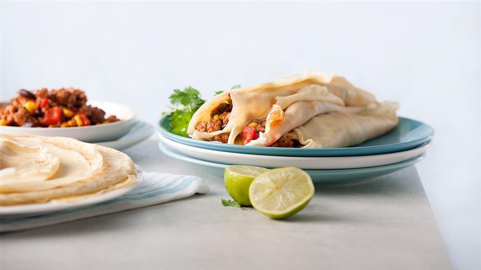 Los burritos – tortilla z farszem