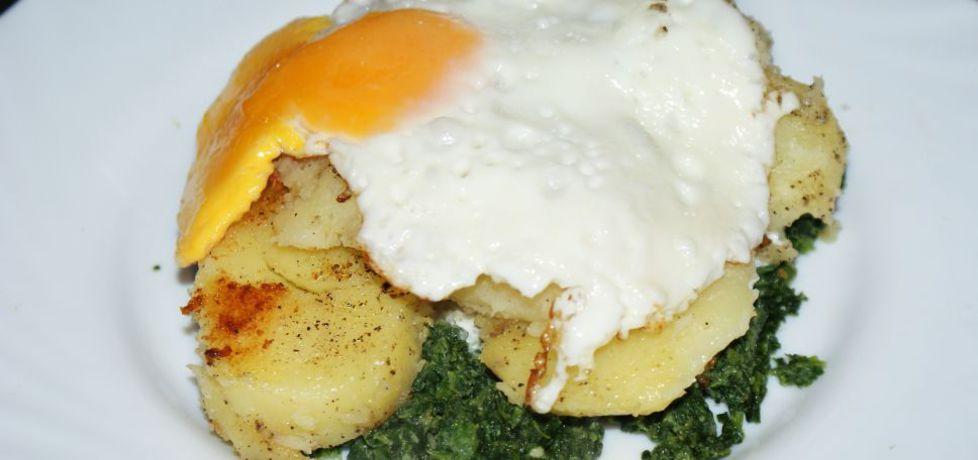 Ziemniaki z jajkiem sadzonym i szpinakiem (autor: magdalea ...