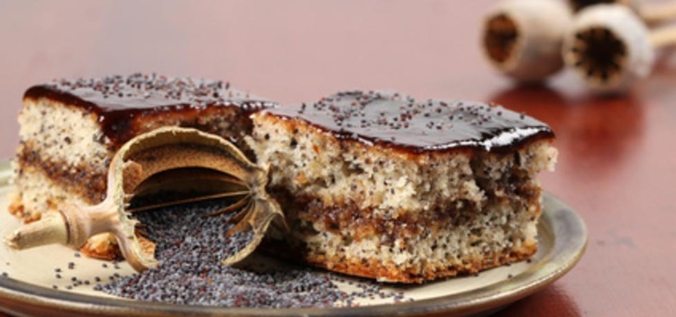 Świąteczny makowiec przekładany konfiturą z polewą czekoladową ...