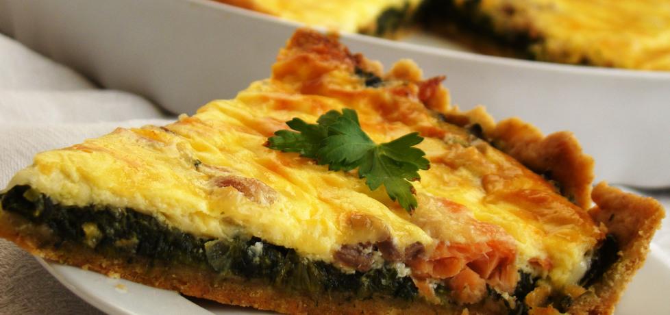 Tarta ze szpinakiem i łososiem (autor: renia1)