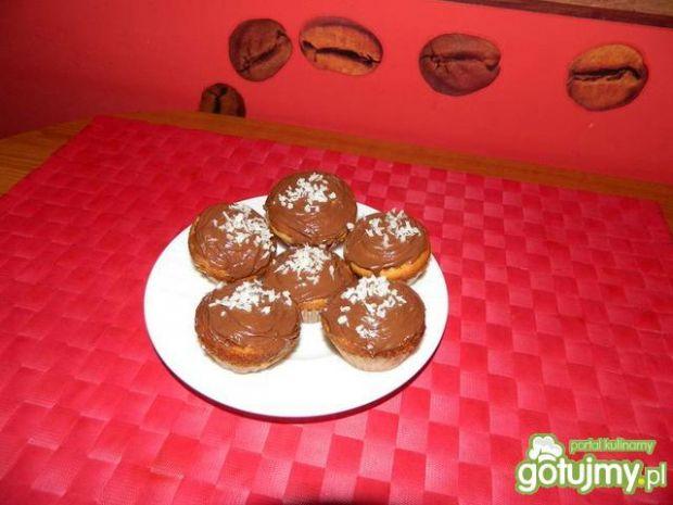 Przepis  muffinki waniliowe z dżemem jabłkowym przepis