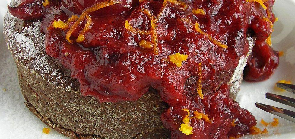 Ciastka gryczano czekoladowe z sosem śliwkowym (autor: ola1984 ...