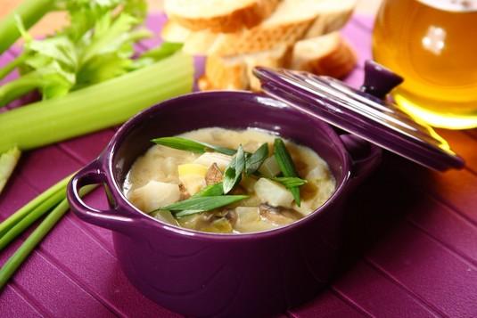 Zupa serowa z pieczarkami