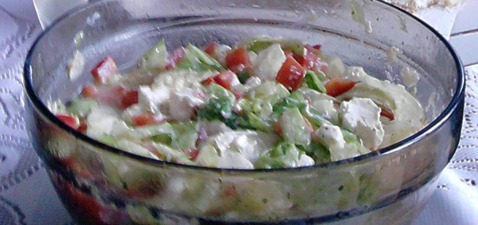 Sałatka grecka z sałatą lodową i serem feta (autor: amadeusz ...