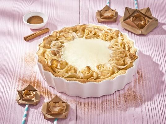 Ciasto z jabłkowymi różami