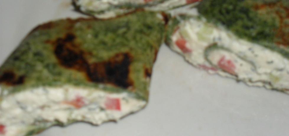 Szpinakowe naleśniki z białym serem (autor: kuklik ...