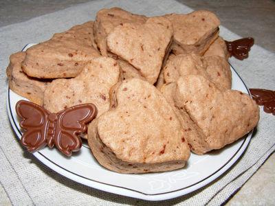 Ciasteczka maślane z czekoladą