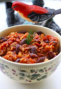 Chilli con carne z ryżem