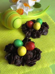 Gniazdka czekoladowe