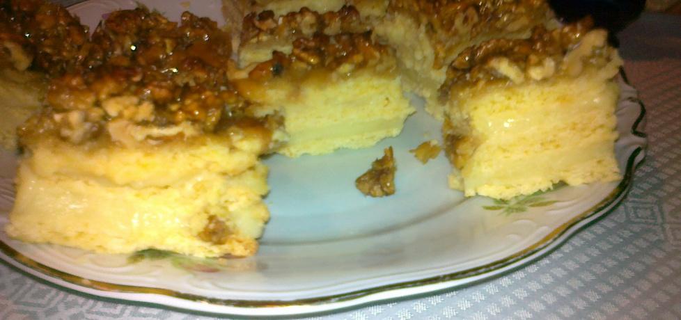 Ciasto z orzechami przekładane kremem miodowym (autor: teresa18 ...