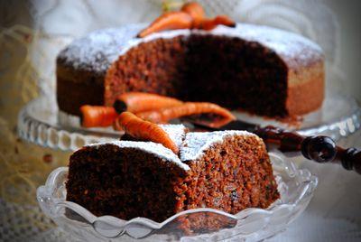 Ciasto marchewkowe z bakaliami