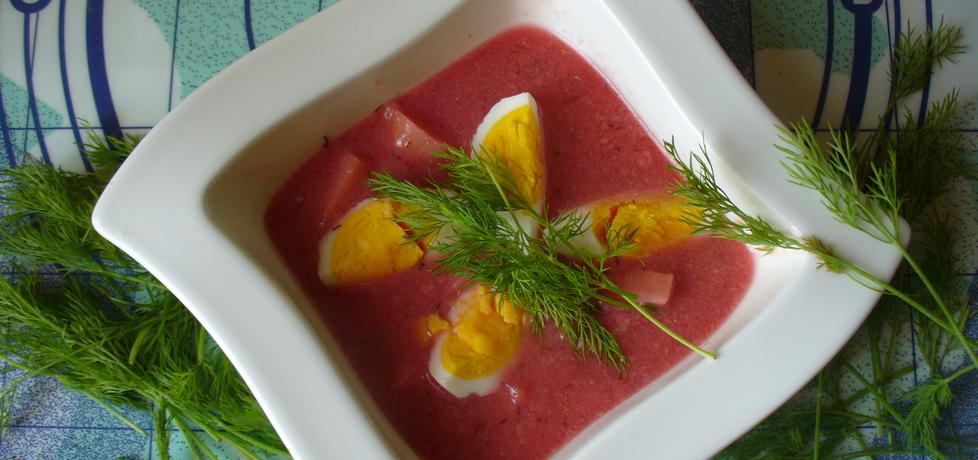 Barszcz czerwony z jajkiem i ziemniakami (autor: jagoda5913 ...