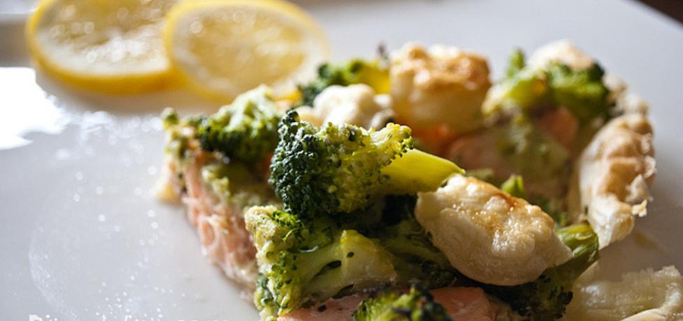 Tarta (quiche) z łososiem i brokułami na szybko (autor: bitedelite ...