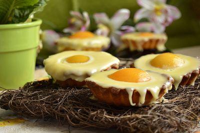 Tartaletki jajka sadzone na słodko