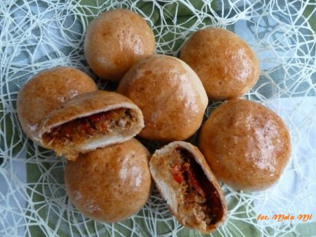 Przepis  bułeczki nadziewane mięsem mielonym przepis