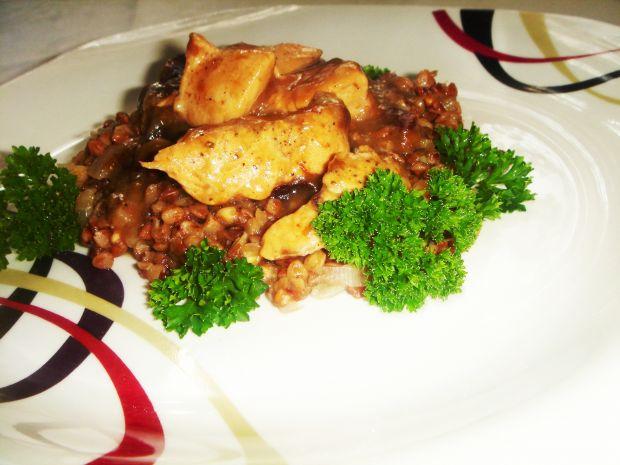Przepis  śliwkowy kurczak z kaszotto przepis