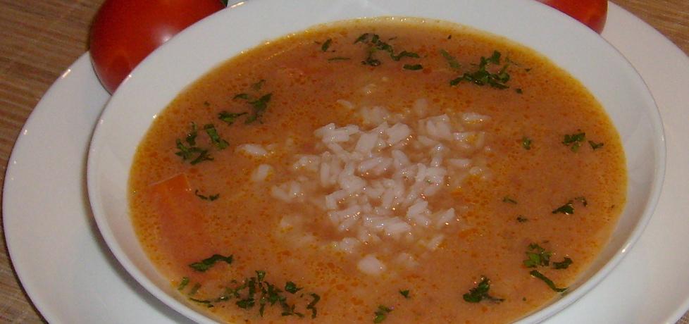Zupa pomidorowa na żeberkach z ryżem basmati (autor ...