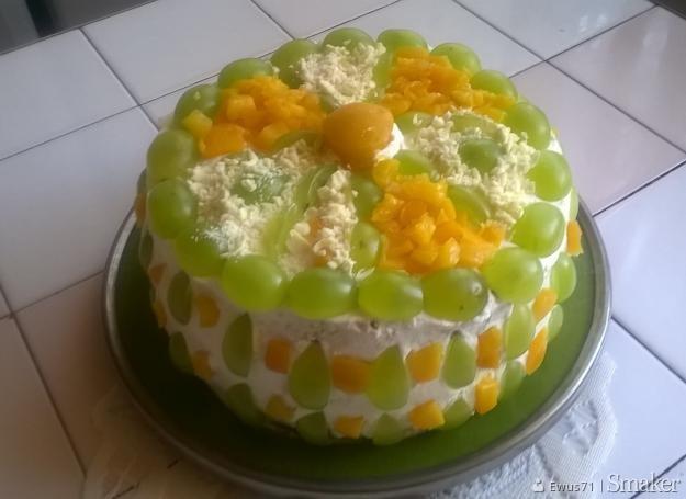 Tort śmietanowo  owocowy