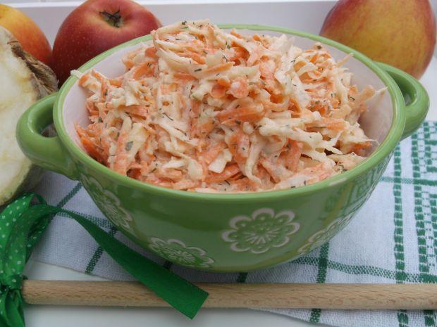 Przepis  surówka z selera, marchewki i jabłka przepis