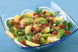 Sałatka z zieloną fasolką i ziemniakami