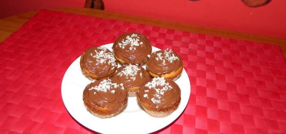 Mini muffinki waniliowe z dżemem jabłkowym. (autor: nogawkuchni ...