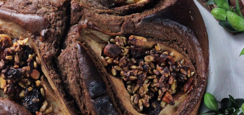 Ciasto czekoladowe a'la murzynek z nadziewanymi ...