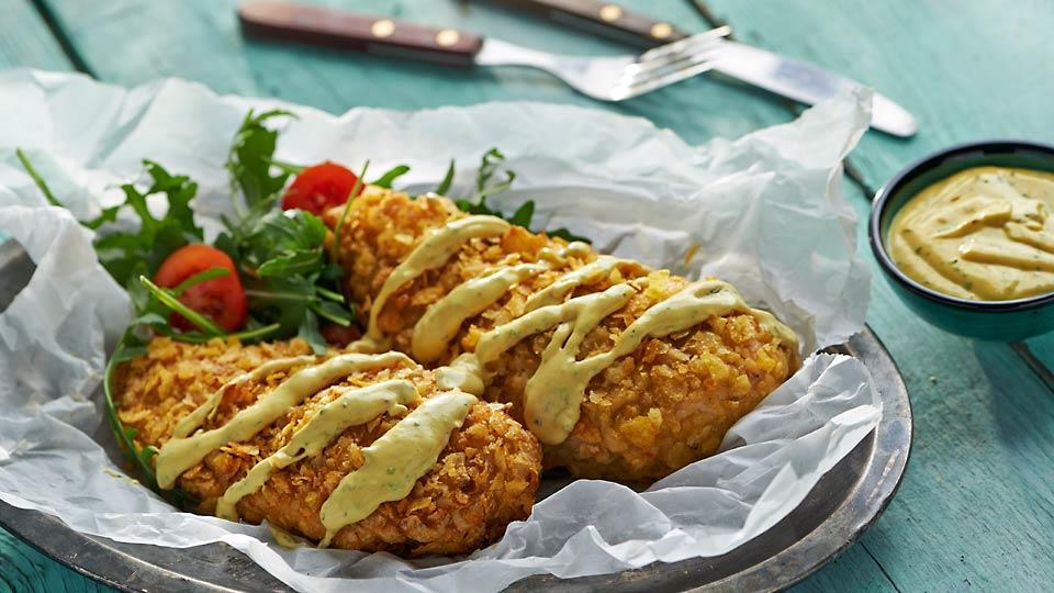 Przepis na piersi kurczaka w chipsach