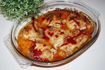Udka pieczone w majonezie i ketchupie