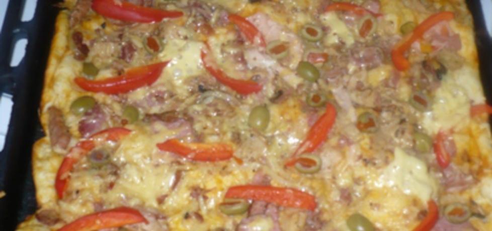 Pizza na sosie czosnkowym (autor: dianix)