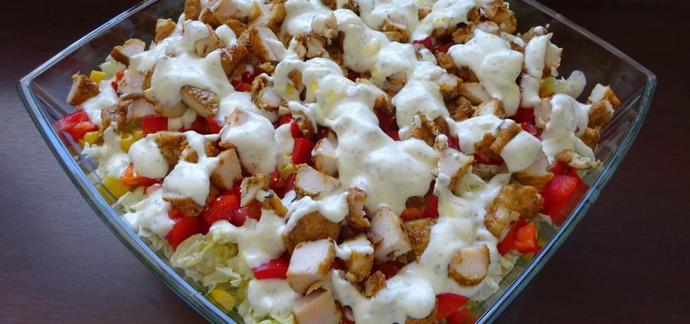 Warstwowa sałatka gyros z warzywami (autor: monia ...
