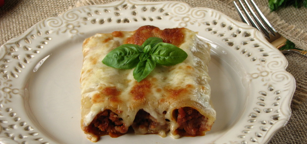 Cannelloni z mięsem mielonym i serem kozim (autor: bogusia
